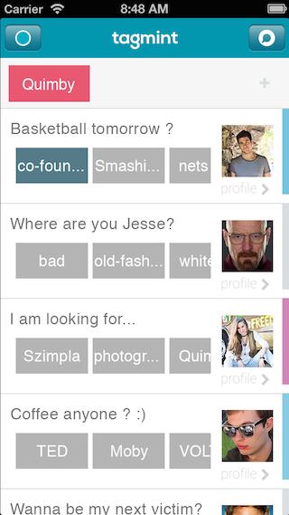 Tagmint iOS app