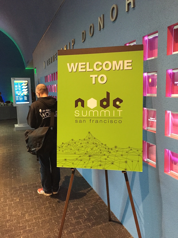 nodesummit welcome