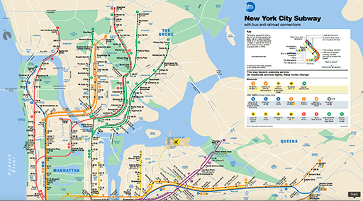 New York City Subway System Graphed
