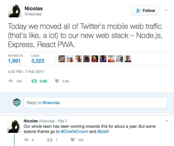 Twitter moves to Node.js