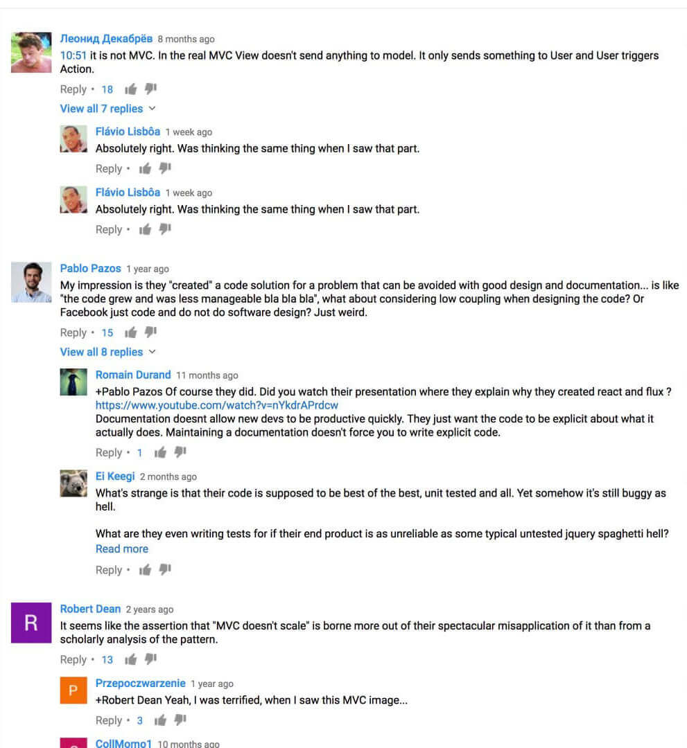 the commenters agreed with daniel khan