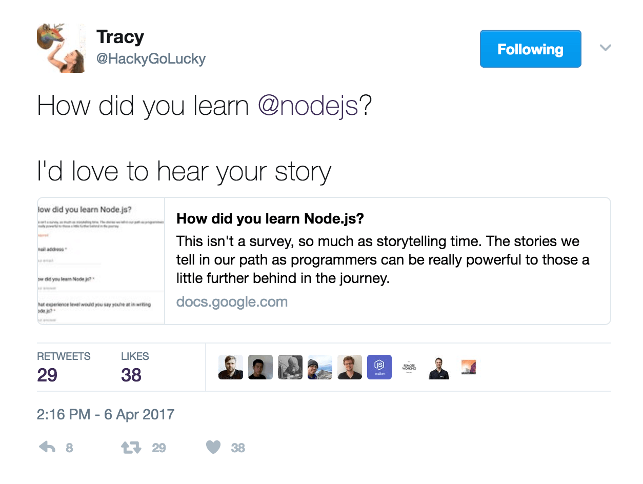 Tracy Hinds Node.js Storytelling