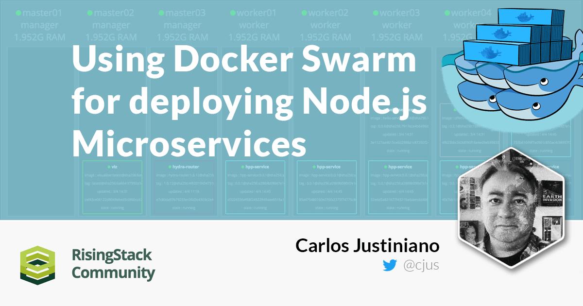 JSFeeds - Using Docker Swarm for Deploying Node js Microservices