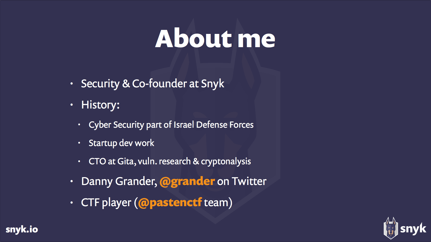 About Danny Grander of Snyk