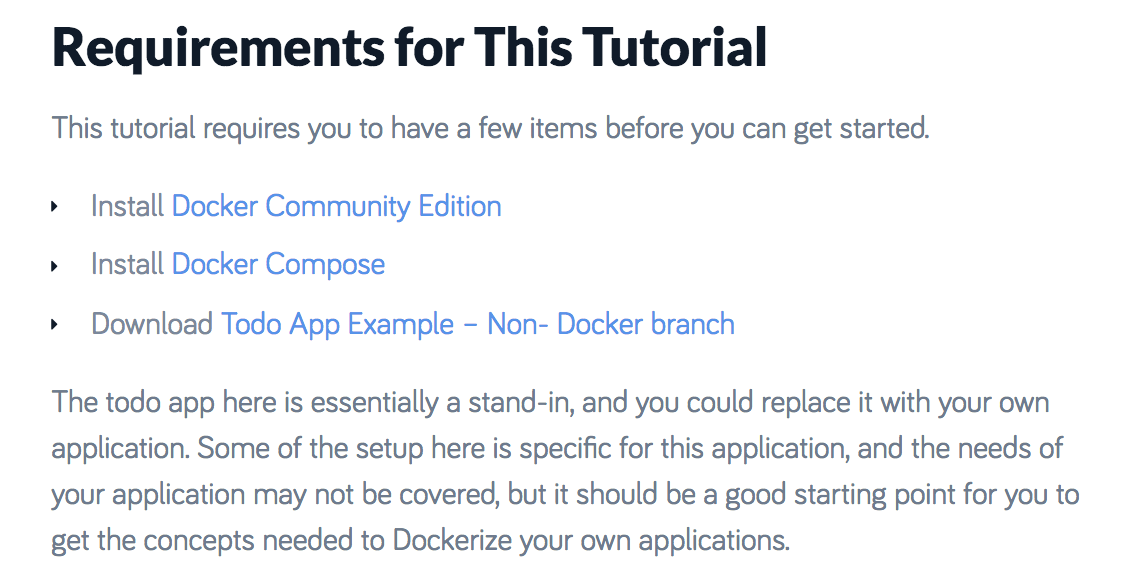 Docker Node.js Todo