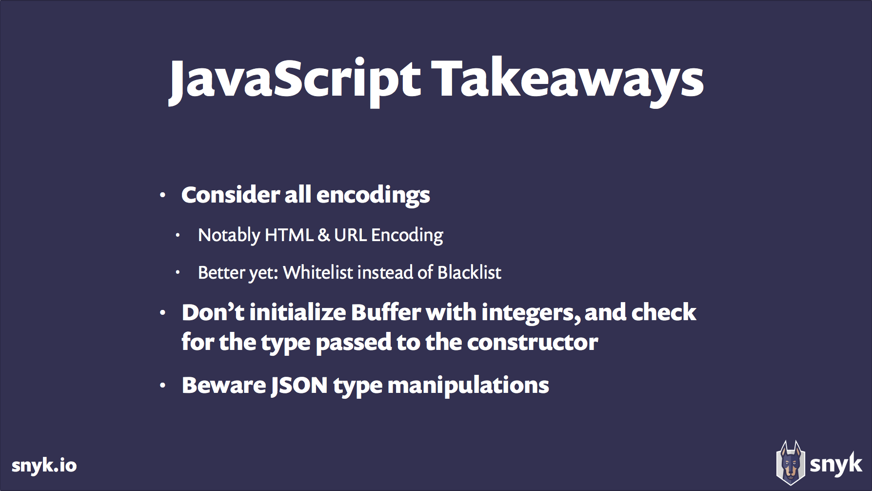 JavaScript Takeaways