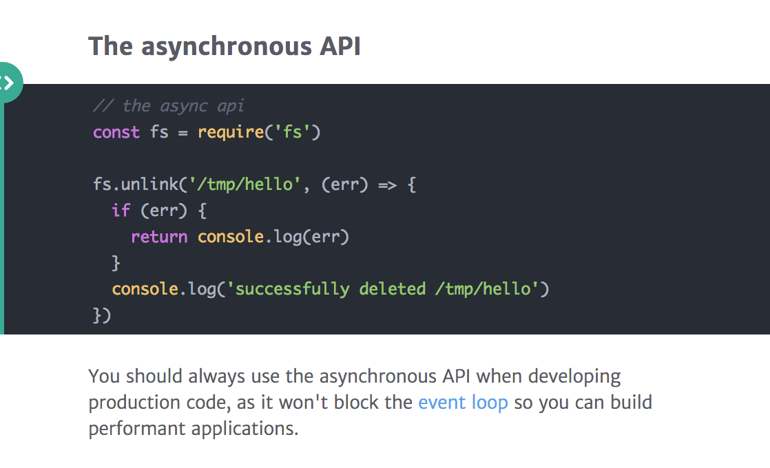 The Async Node.js API