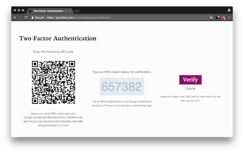 Two factor authentication in Node.js