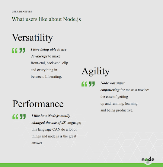 Why developers love Node.js