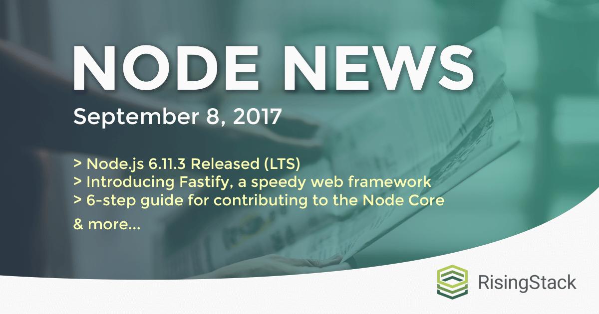 Node.js Weekly Update - September 8