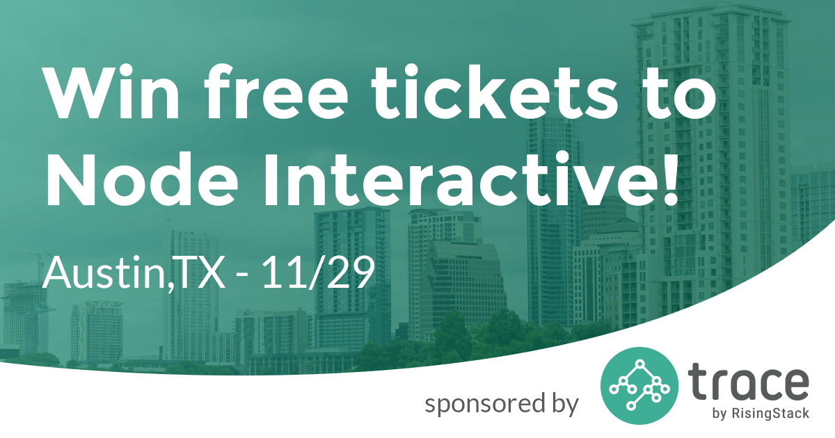 Node Interactive Giveaway -  Win 1 of the 3 tickets (until November 13)